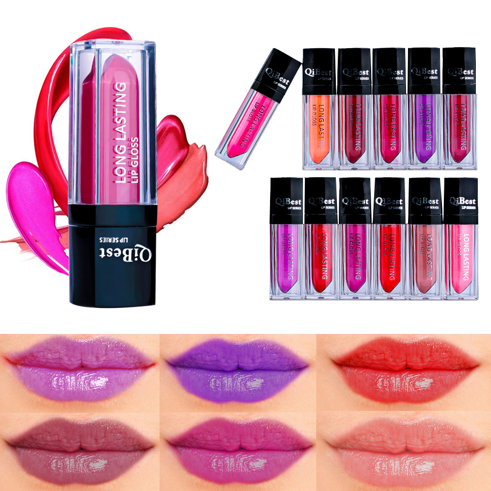 12 Colors Beauty Lip Gloss Waterproof Makeup Matte Long Lasting Liquid Matte Lipstick Assorted Lip Maquiagem