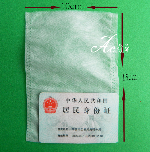 Non-woven heat seal tea bag filter bag of boiled water resistant 100 pice, 10 x15cm(China (Mainland))