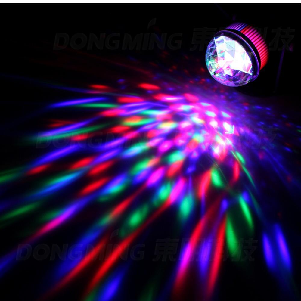 3W RGB LED Crystal Magic Ball Stage effect light sound music control KTV Party show Laser Disco DJ Bar lamp 110V~220V EU Plug
