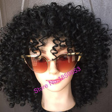 2016 Newest Medium Long afro Kinky Curly wig Synthetic wig for Black Women