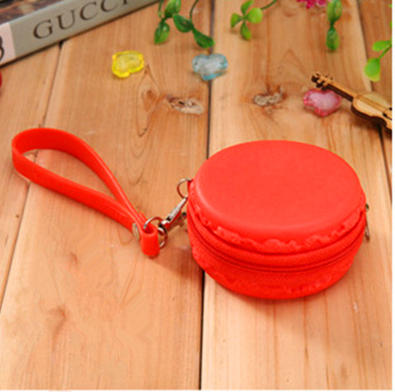 2016 Top Limited Macarons Silicone Purse Dream Color For Headset Bag Coin Wholesale And Retail Free Shipping G006 Zipper(China (Mainland))