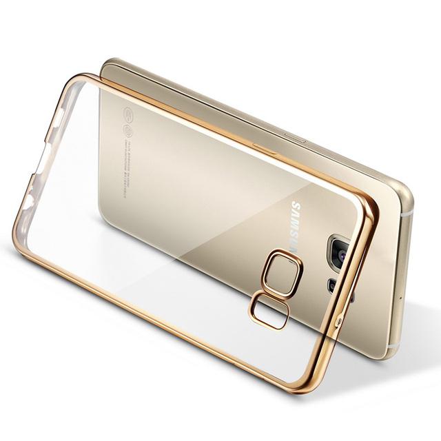 Ясно Coque Покрытие ТПУ Случае для Samsung Galaxy S6 S7 Edge плюс Примечание 5 Примечание 7 C5 C7 Силиконовый Caso Крышки