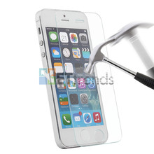 200pcs/lot 0.2MM 2.5D Tempered Glass Screen Protector For iPhone 5/5S Protective Film DHL Free Shipping