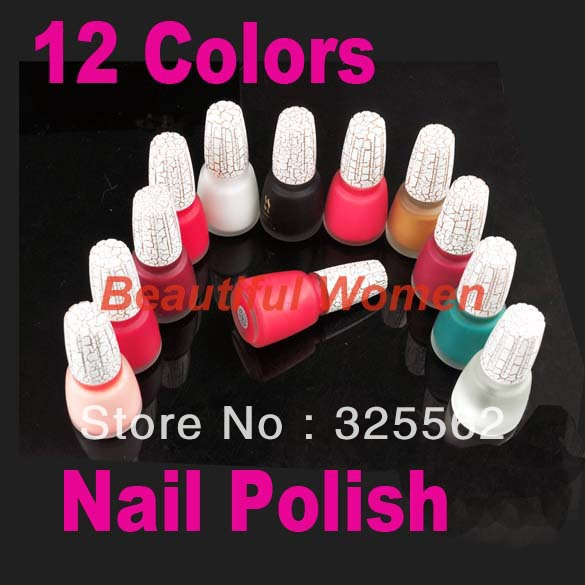 2set/lot 12 Colors Sexy Crack Nail Polish Art Crackle Shatter New Fashion Wholesale 2052<br><br>Aliexpress