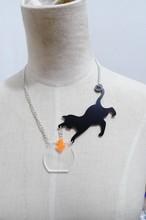 Acrylic Cat fish Necklace Pendant Chain Collar Choker Pendant Animal Fashion Jewelry For Women Girs 2015