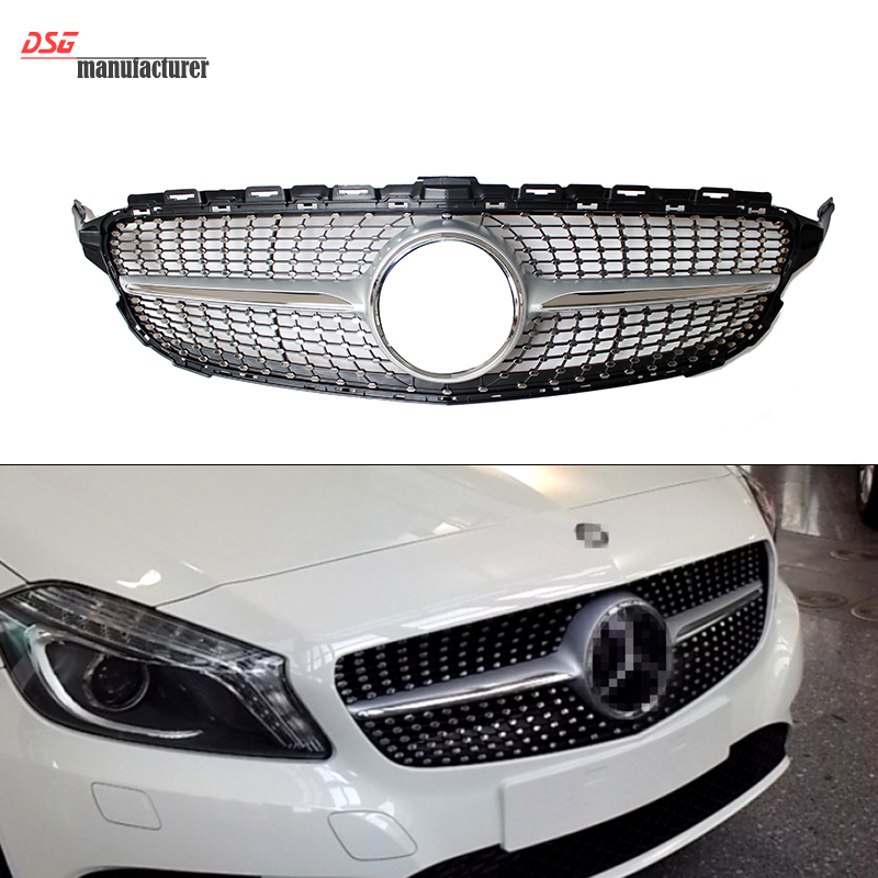 Buy abs plastic mercedes w205 diamond grill grille for benz 2015 c class - Grille indiciaire 2015 categorie c ...