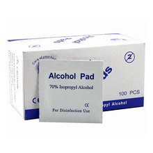 Portable 100pcs Box Alcohol Swabs Pads Wipes Antiseptic Cleanser Cleaning Sterilization First Aid Home