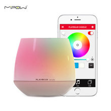 Promotion MIPOW PLAYBULB Smart Bluetooth LED Candle Light Creative Home Wireless Aromatherapy Nightlight with APP Control Color(China (Mainland))