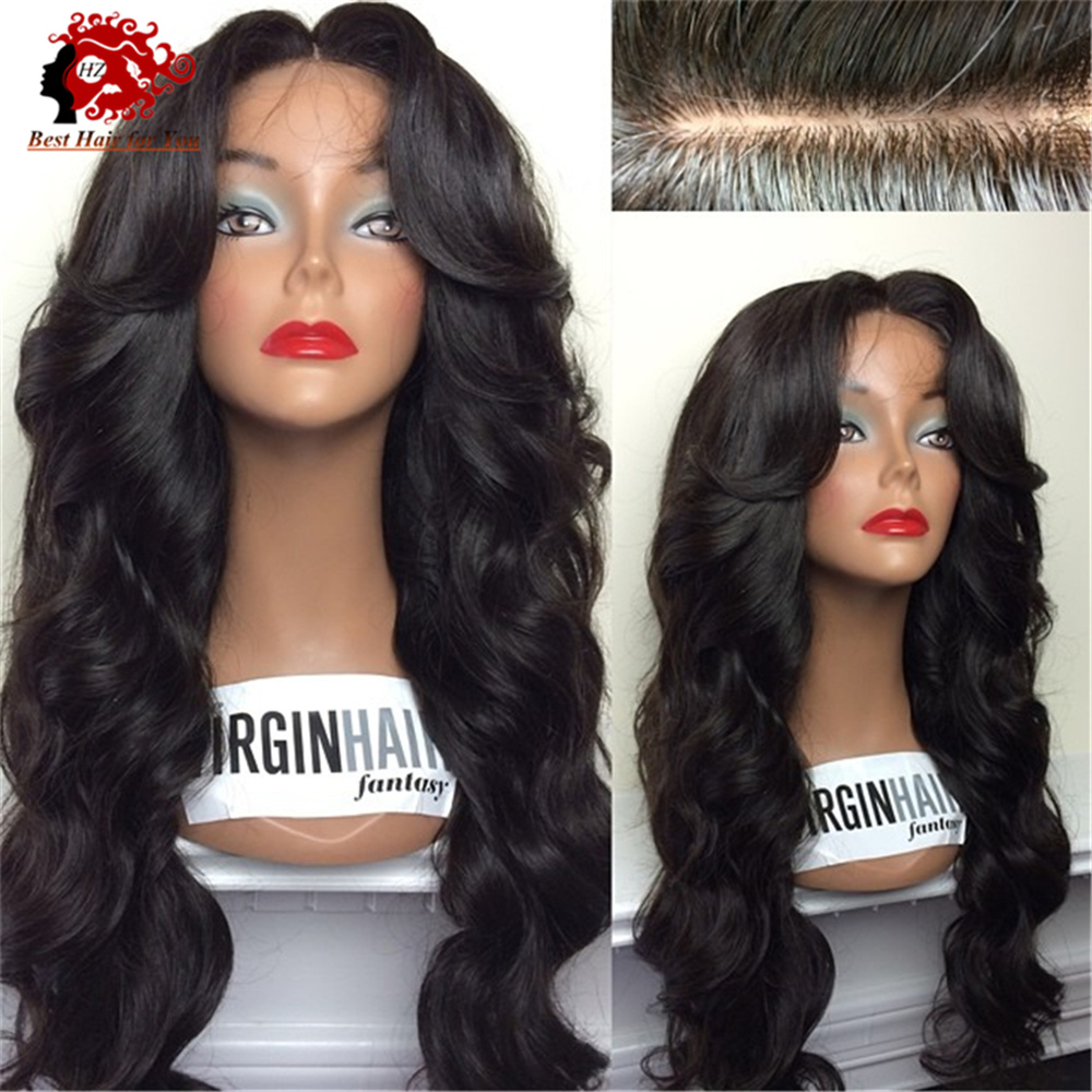 Top 7A Grade Best Full density Virgin Brazilian Thick Human Hair Wig Full Lace Wig Cheap Human Hair Lace Front Wig Glueless Wig(China (Mainland))