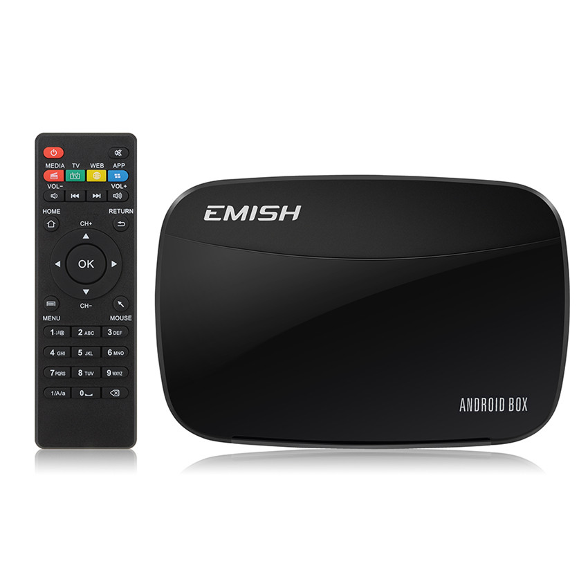 EMISH WIFI Android 4.4.4 Quad Core Cortex A7 Smart TV Box 1G/8G XBMC Internet Streaming Media Player Game Player With KODI(China (Mainland))
