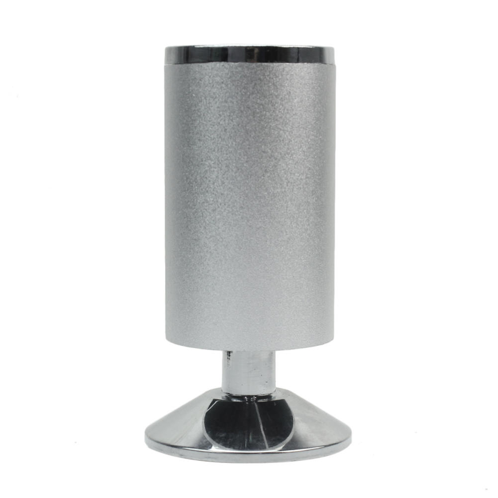 4pcs 120mm Metal Silver Tone Table Legs Feet Supporter Furniture Cabinet Cupboard Round Stand(China (Mainland))