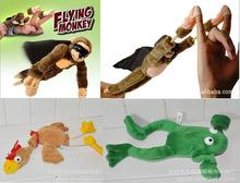 28CM Soft Cute Children Boy Girl Child Kids Funny Plush Slingshot Screaming Sound Mixed For Choice Plush Flying Monkey Toy Gift(China (Mainland))