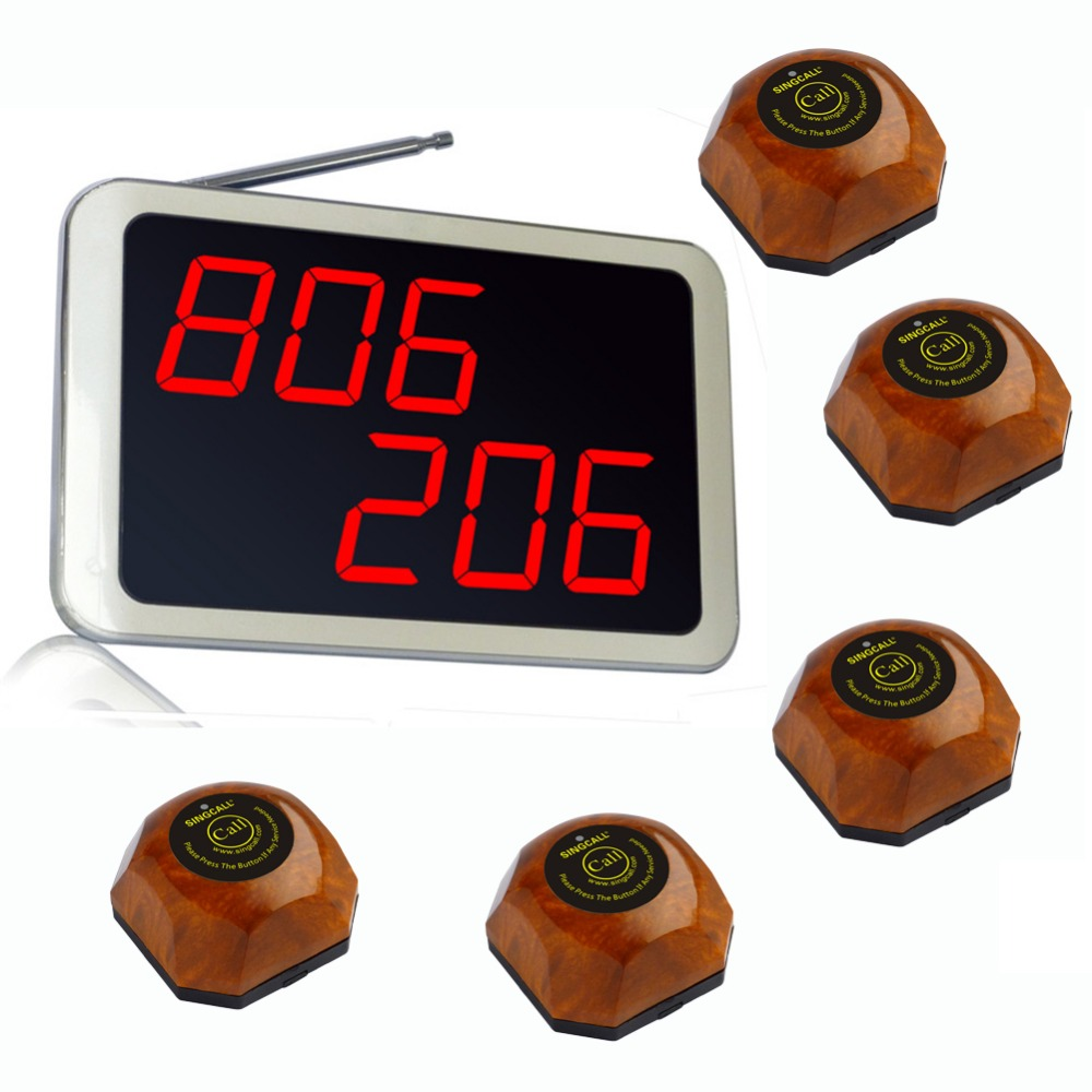 Cheapest Wireless Paging System ,5 pcs of table bell and 1 pc receiver of APE1200,wireless calling button(China (Mainland))