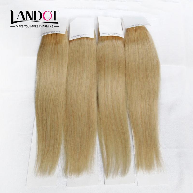 Bleach Blonde Brazilian Straight Hair 613 Color 100% Human Hair Weave Bundles 4pcs/Lot Brazilian Remy Hair Extensions Can Be Dye(China (Mainland))