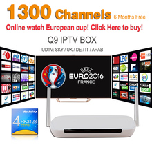 Iptv Set Top Box Q9 IPTV Box Android 4.4 + 6 Months Iudtv Iptv Subscription Iptv Account Sky Full Europe Sport Max Arabic French