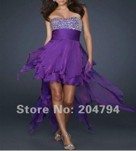 Sexy Purple homecoming Party Fashion dress fashion design sequinse chiffon Evening Prom Dress
