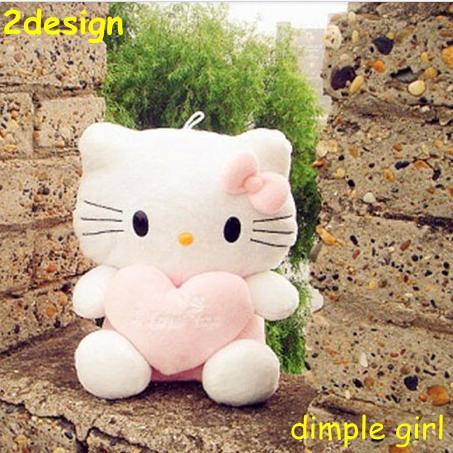 1 PIECE,KAWAII CUTE pink blue heart hello kitty toys for kids stuffed animal car accessories soft plush wedding doll sofa