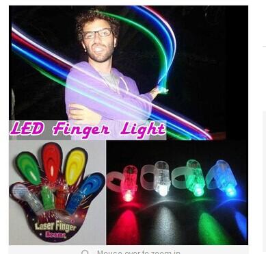 colourful led finger lamp,LED finger Ring lights Laser Finger Night flash Led Show Party Decoration w2374(China (Mainland))