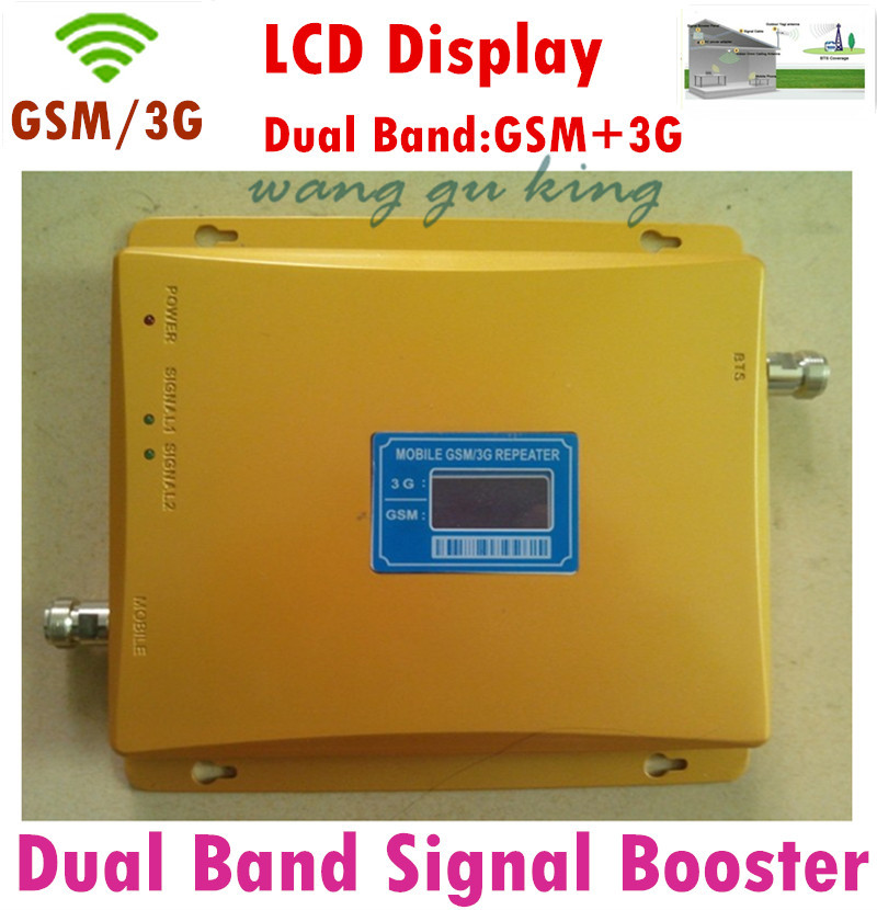 Newest Dual Band 65dBi Signal booster 3G GSM 900 GSM 2100 Mobile Phone Booster Amplifier gsm signal booster 3G GSM Repeater(China (Mainland))