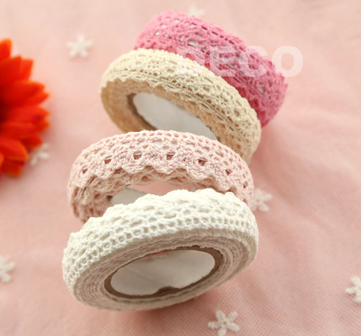 Fashion Fabric Lace Tape for DIY decoration, Stationery Adhesive Tape,Gifts(ss-1810)(China (Mainland))