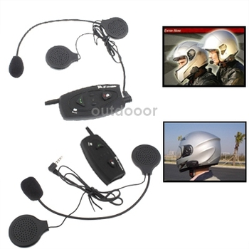 Free Shipping Brand New 500m Bluetooth Interphone Headsets For Motorcycle Helmet ((2pcs in one packaging the price is For 2pcs)