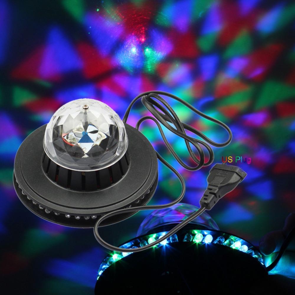Free Shipping NEW Product Mini Rotating RGB Light 48 LEDs Sunflower LED Stage Light ,AC100-240V For Party,Bar,hotel,DJ,Holiday(China (Mainland))