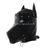 Hot adult sex game party mask halloween mask multifunctional sex product dog head mask with dog chain