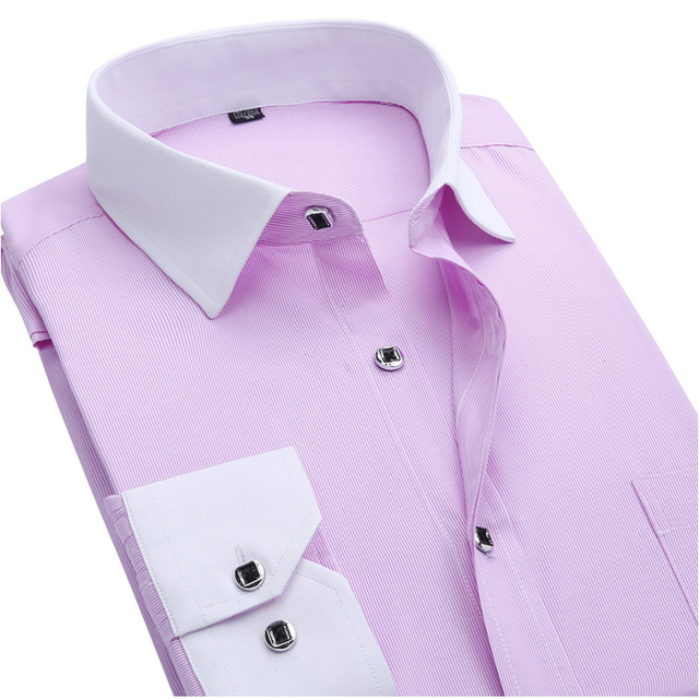 Новый 2016 весна мужчины рубашка мода белых воротничков саржевые бизнес мужской социальной ...