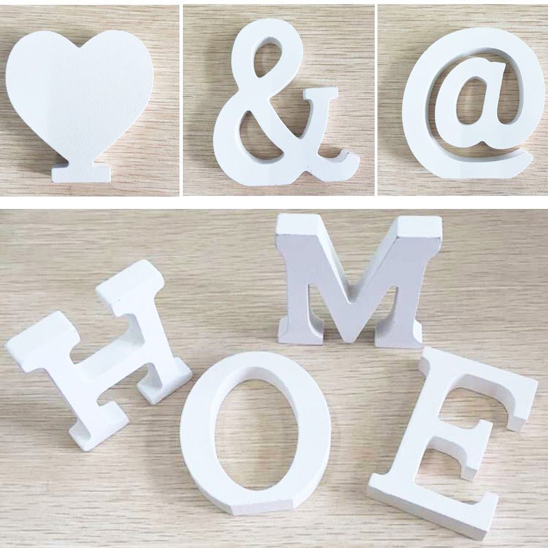 6pcs door wedding decorations letters digital wooden for Small wooden letters for crafts