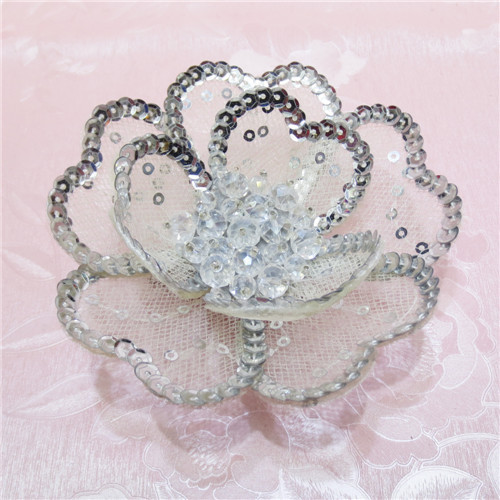 Fashion Wedding Sequin Camellia Hair Flower Clip Decoration Grip Pin Corsage Brooch 12pcs/lots(China (Mainland))