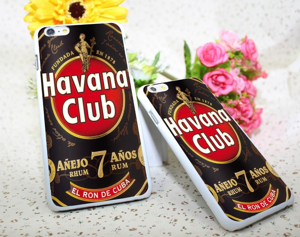 Havana Club White Hard Case Cover for iPhone 6 6s plus 5 5s 4 s White Skin Print Series