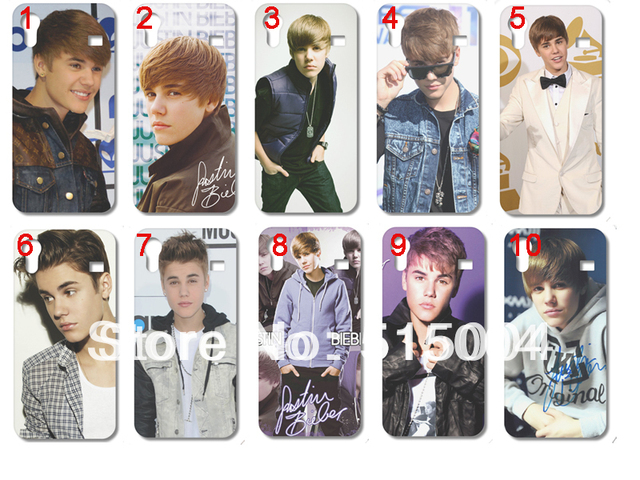 New Design Justin Bieber Case Hard Back Cover For Samsung Galaxy Ace S5830 10pcs/lot Free Shipping