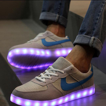 yeezy shoes 7Colors luminous casual shoes unisex led glow shoe men&women fashion USB rechargeable light led shoes for adults(China (Mainland))