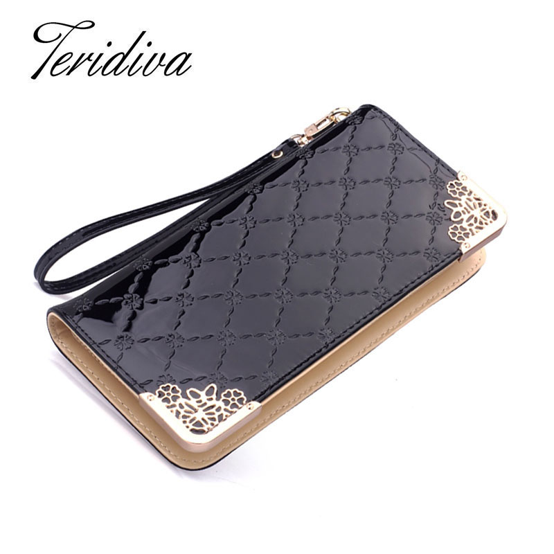 2016 Promotion Women's Wallet High Quality PU Leather Candy Color zipper Long Coin Purse Ladies Wallet Female Card Holder(China (Mainland))
