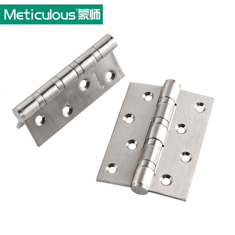 "Top Quality 4"" 304 Stainless Steel Casting Extra-thick Smooth&Quiet Ball Bearing Door Hinges, satin nickel brushed free shipping(China (Mainland))"