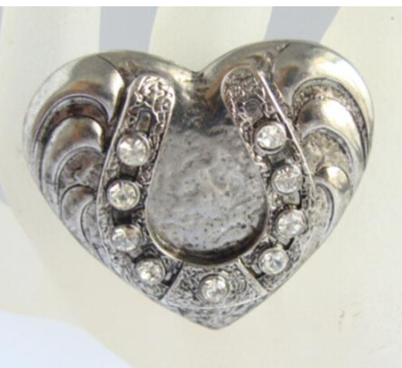 New Arrival Fashion Unique Vintage Cystal Heart Elastic Ring Women Silver Rings R374(China (Mainland))
