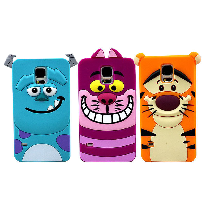 New Cute 3D Cartoon Monster university Sulley Marie Alice Cat slinky dog back Cover Soft Case for Samsung Galaxy S5 I9600 YC088(China (Mainland))