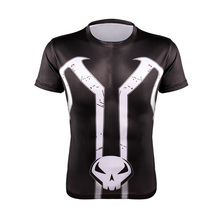 Tees Men's quick dry Fitness T shirts 3D printed Captain America spider-man Running workout gear bodybuilding short sleeves gym