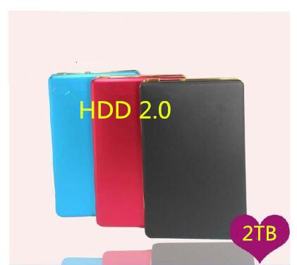 "New 2017 Hard disk 2 TB 2.5 ""2.0 Portable USB Hard Drive 500GB 1TB HDD Black External Hard drives 3 Year giant free shipping(China (Mainland))"
