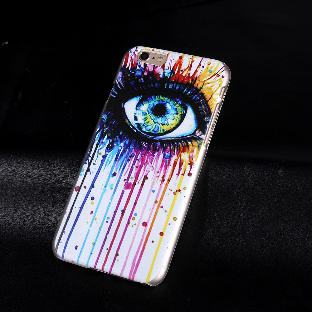 Fashional Cover For iphone6 6S 4.7inch Rainbow Eyes Glitter Brilliant 3D Hard Cover Cases phone shell for Apple iPhone 6 Hot(China (Mainland))