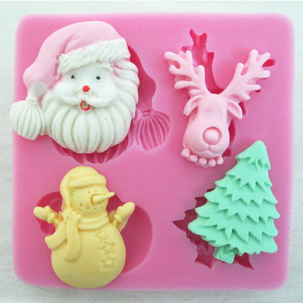 Silicone Christmas Style Cake Mold Baking Tool Fondant Cake Decorating Mold supplies on ...