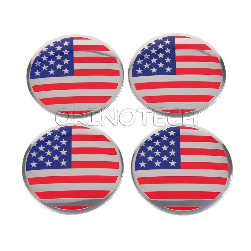 American flag wheel sticker-1