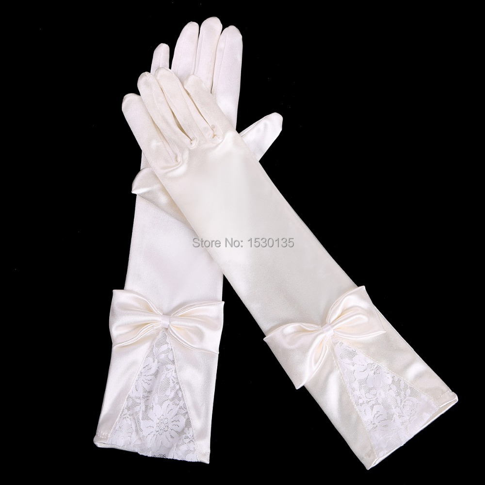 Long ivory gloves promotion shop for promotional long for Wedding dress with long gloves