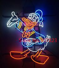 "24""x20"" Custom Donald Duck Neon Light Sign Bulbs Store Display Real Glass Tube(China (Mainland))"