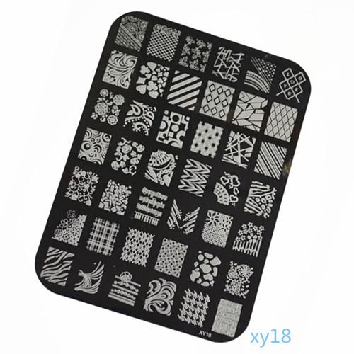 1 piece XY18 Large Square Image Nail Art Stamp Stamping Plates Print Manicure Polish Template DIY Stencil Polish Styling Tools(China (Mainland))