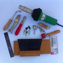 Vinly piso soldador desmontar e instalar la herramienta kits con el más nuevo varilla de plástico paleta cuchillo pistola de aire caliente, hor soldador de aire