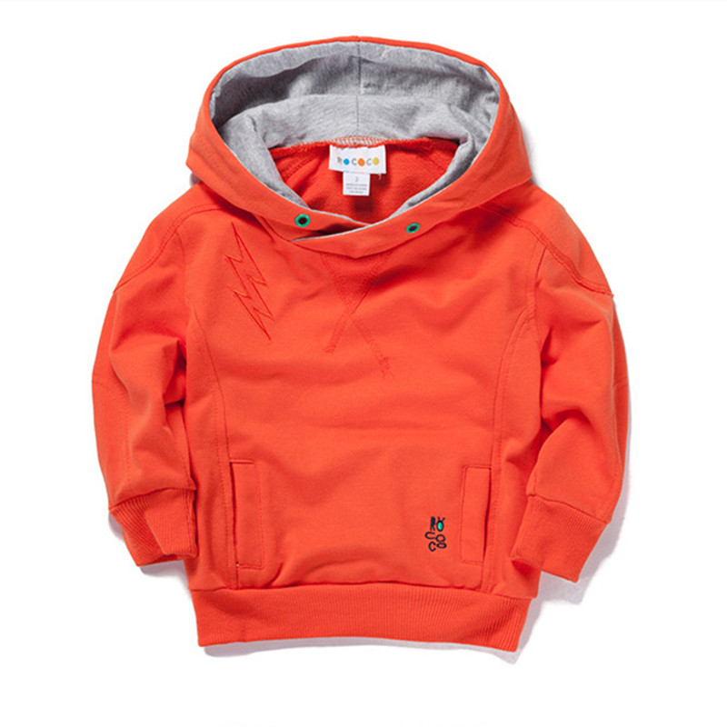 New 2016 children clothing Sport Boys Girls Hoodies clothes 100 Cotton solid color hooded sweaters baby