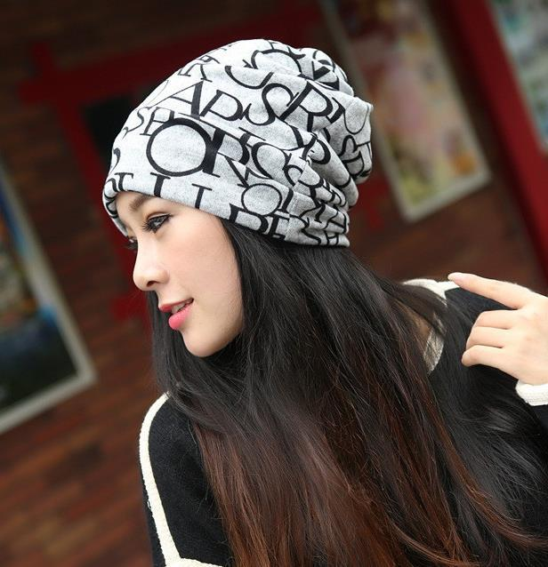 Fashion Casual Design Plain Womens Beanie Hat Cool Snap Backs 4 Colours Neck Scarf Double Use For Girls Winter Ears Hat(China (Mainland))