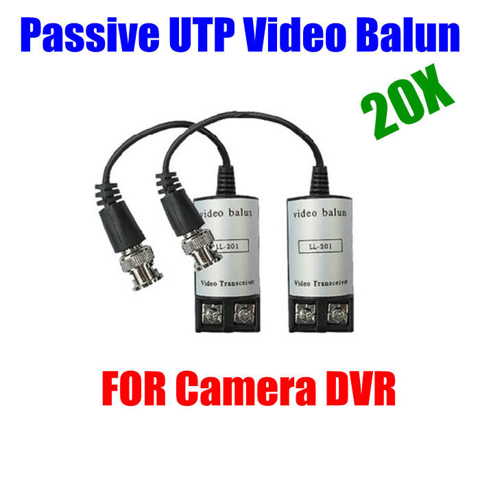 20pcs 10pair Passive CCTV camera DVR Video Balun Network twisted Transceiver Transmitter Cat5 Connection<br><br>Aliexpress