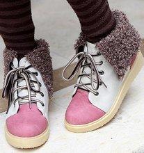 Envío gratis botines mujeres moda de invierno corto nieve zapatos de cuña calzado sexy medio caliente bota P6916 EUR tamaño 34-48(China (Mainland))